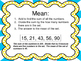 Mean:  Task Cards and More For Finding the Mean of a Set of Numbers
