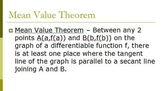 Mean Value Theorem Derivatives (PP)
