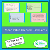 Calculus - Mean Value Theorem Task Cards