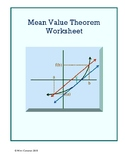 Mean Value Theorem Worksheet