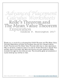 Mean Value Theorem and Rolle's Theorem Exploration with Solutions