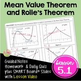 Calculus Mean Value Theorem with Lesson Video (Unit 5)