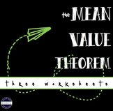 CALCULUS Mean Value Theorem - worksheets