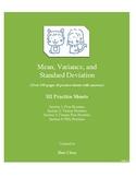 Mean, Variance, and Standard Deviation (HI Practice Sheets)
