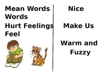 Mean Words Social Story