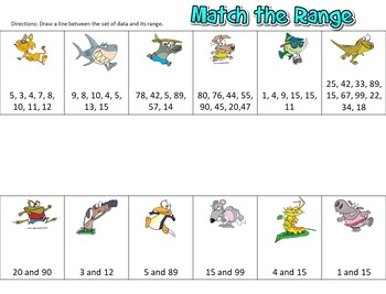 Mean and Range Matching Activity