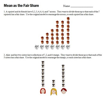 Mean as the Fair Share or Balance Point