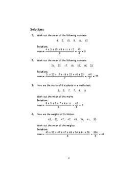 Mean worksheet no 2