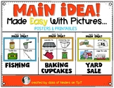 Main Idea {Made Easy with Pictures} For Kindergarten & First Grade Reading