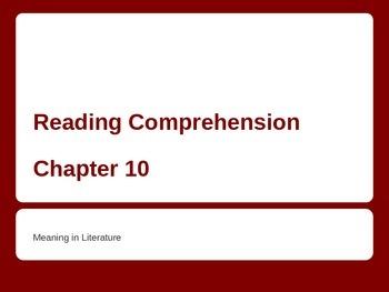 Meaning in Literature - ESL Powerpoint