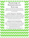 Meaning of Multiplication Review - enVisions Topic 4