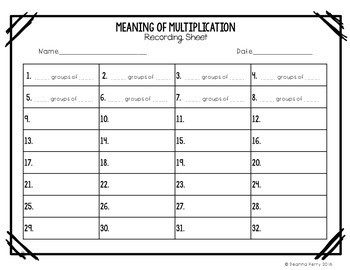 Meaning of Multiplication Task Cards