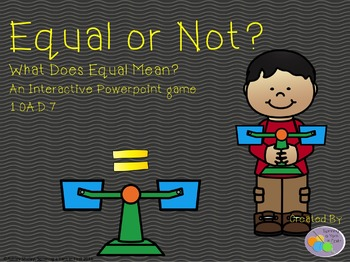 Meaning of the Equal Sign Interactive Game 1.OA.D.7