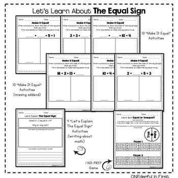 Meaning of the Equal Sign - Worksheets and a NO-PREP Game