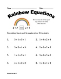 Meaning of the Equal Sign for First Grade - Common Core OA 1.7