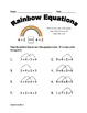 Meaning of the Equal Sign for First Grade (Higher Numbers) - Common Core OA 1.7
