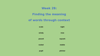Meaning of words through context lesson