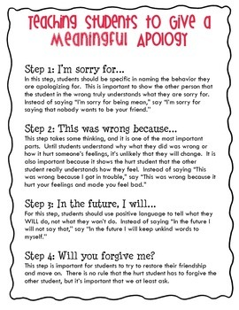 Meaningful Apology Poster