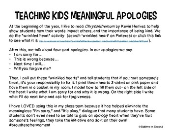 Meaningful Apologies for Kids