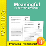Meaningful Handwriting Practice