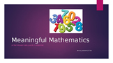 Meaningful Mathematics Power Point