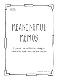 Meaningful Memos - Positivity Portfolio for Social and Emotional Learning