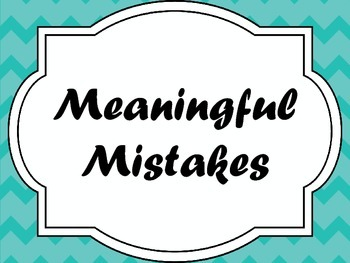 Meaningful Mistakes