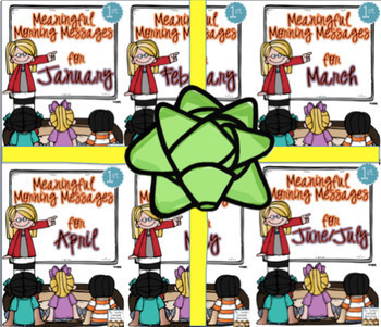 Meaningful Morning Messages 2nd Semester Bundle (1st Grade)