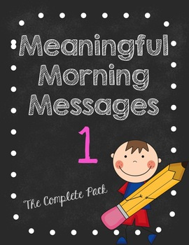Meaningful Morning Messages-Packet 1