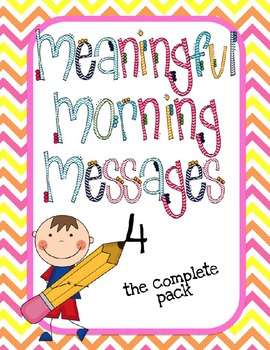 Meaningful Morning Messages-Packet 4