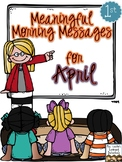 Meaningful Morning Messages for April (1st Grade)