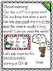 Meaningful Morning Messages for December (1st Grade)