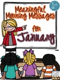 Meaningful Morning Messages for January (1st Grade)