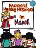 Meaningful Morning Messages for March (1st Grade)