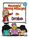 Meaningful Morning Messages for October (1st Grade)