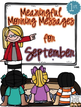 Meaningful Morning Messages for September (1st Grade)