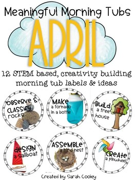 Meaningful Morning Tubs:  April STEM Based Ideas