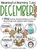 Meaningful Morning Tubs:  December STEM Based Ideas