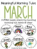 Meaningful Morning Tubs:  March STEM Based Ideas