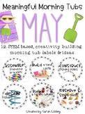 Meaningful Morning Tubs:  May STEM Based Ideas