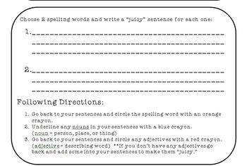 Meaningful Morning Work, Grammar, Writing, Math