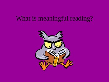Meaningful Reading