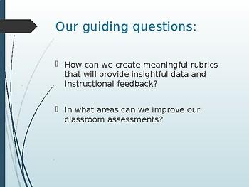 Meaningful Rubrics PD Presentation