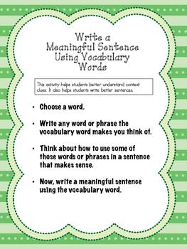 Meaningful Sentences