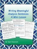 Writing Meaningful Analysis Sentences