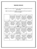Meaningful September Homework