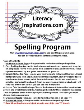 Meaningful Spelling Program with Homework & Management Tools