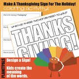 Thanksgiving Design Coloring Sign Learn Words Writing Page