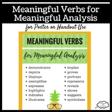 Meaningful Verbs for Meaningful Analysis