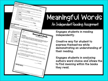 Meaningful Words: An Independent Reading Assignment